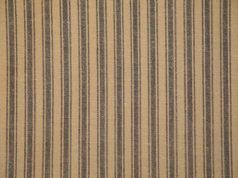 Black ticking stripe fabric