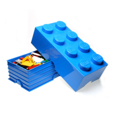 Image of Lego Storage Brick 8 - Blue
