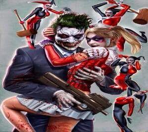 Harley Quinn and The Joker.