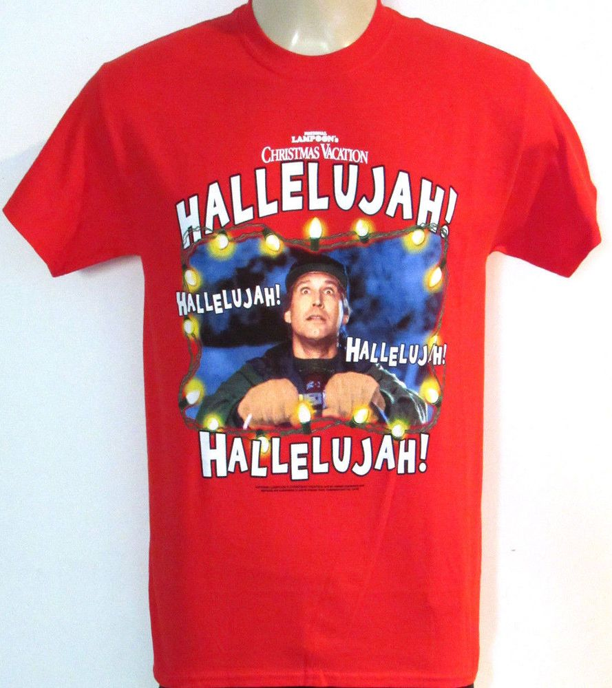 Red T Shirt Adult SMALL National Lampoon Christmas Lights