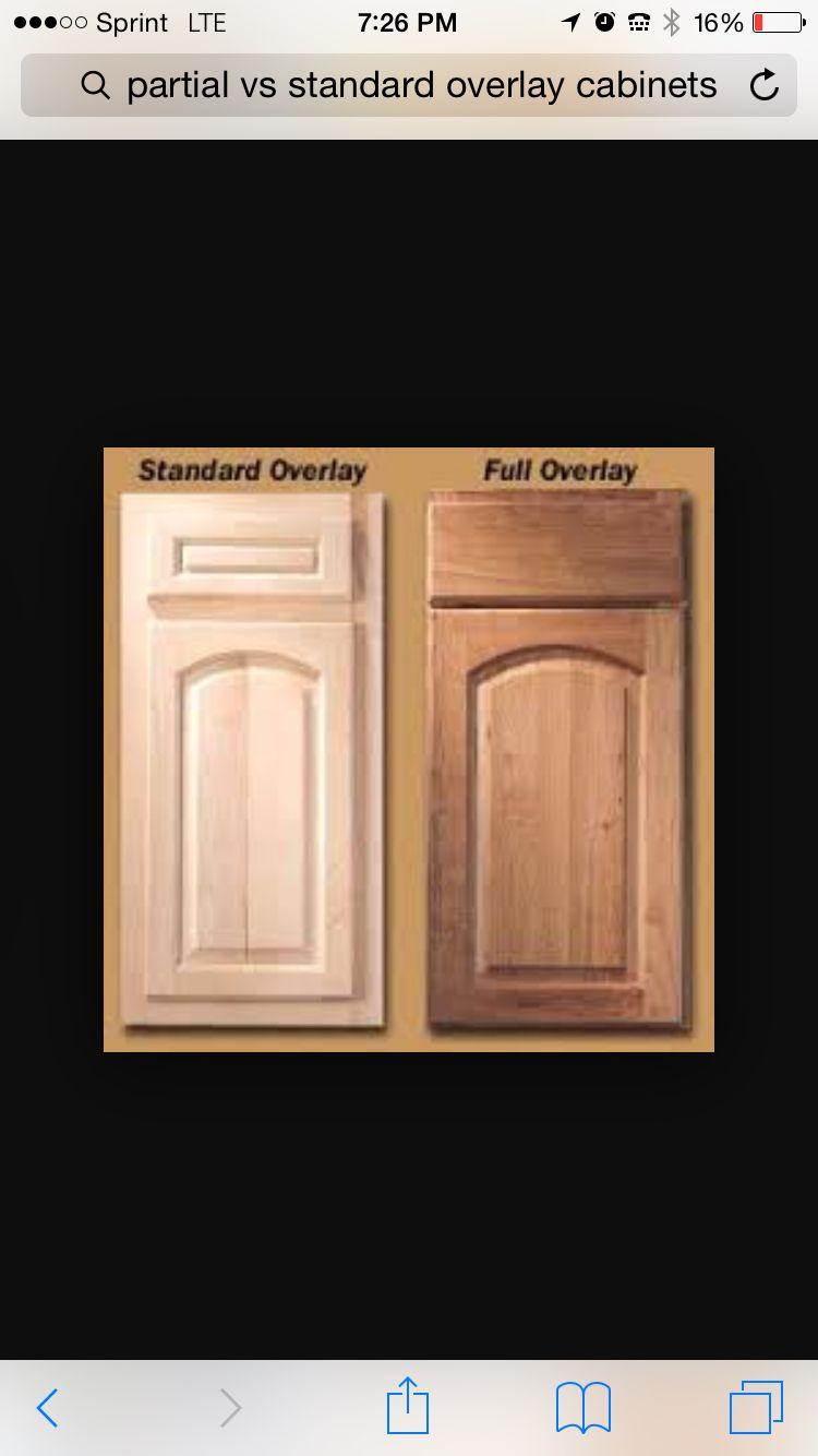 Standard Overlay Cabinets Vs Vs 1 4 Overlay Cabinets Overlays Full Overlay Cabinets Cabinet Doors