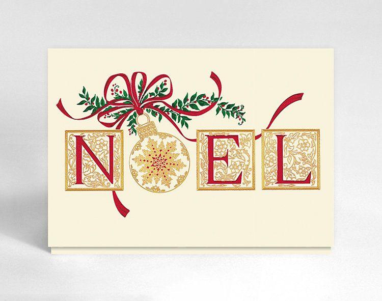 #christmas #noel #card #elegant #decorativeletters