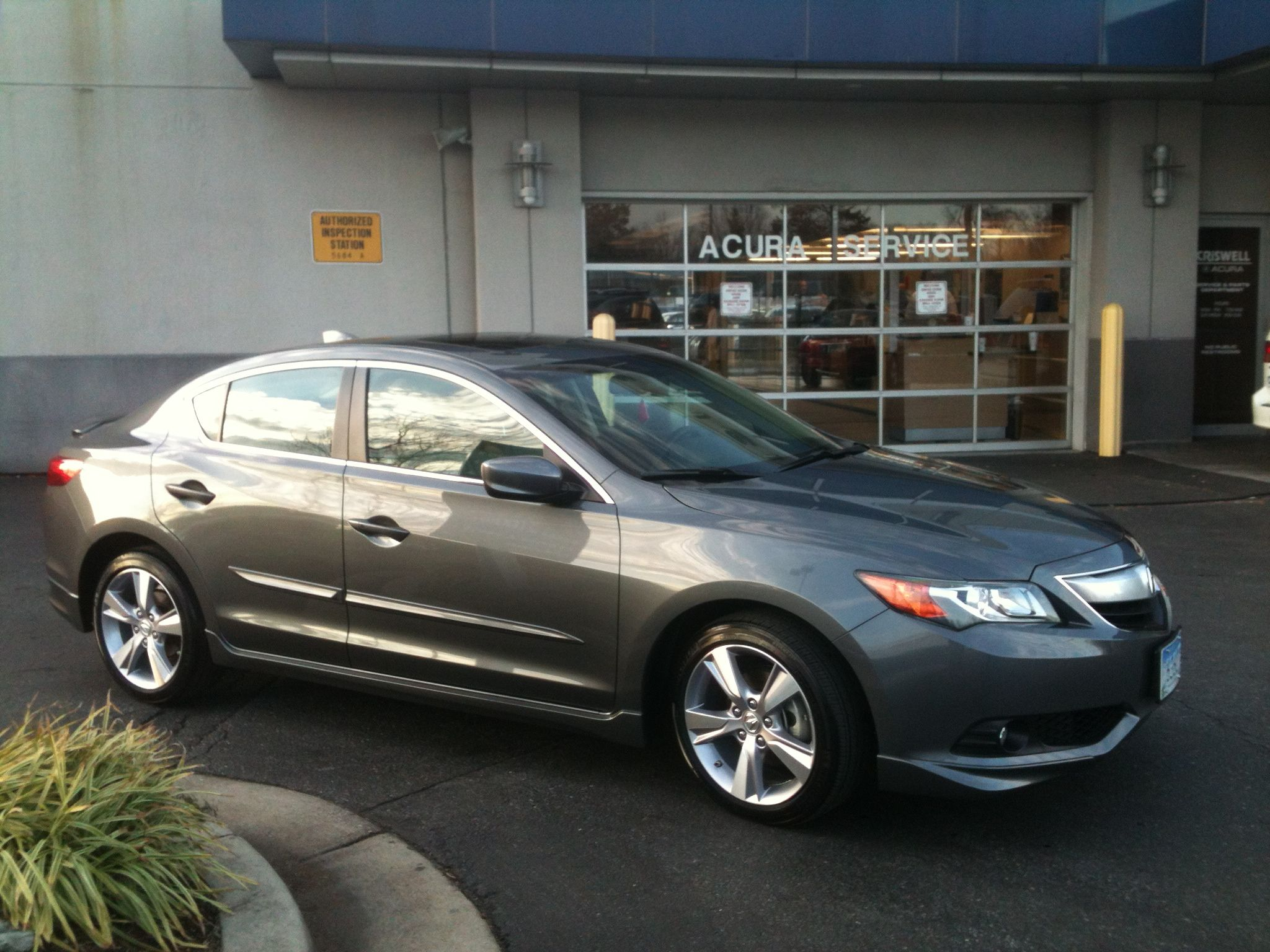 2013 Acura Ilx Shown With Side Skirts Body Side Moldings Deck Lid