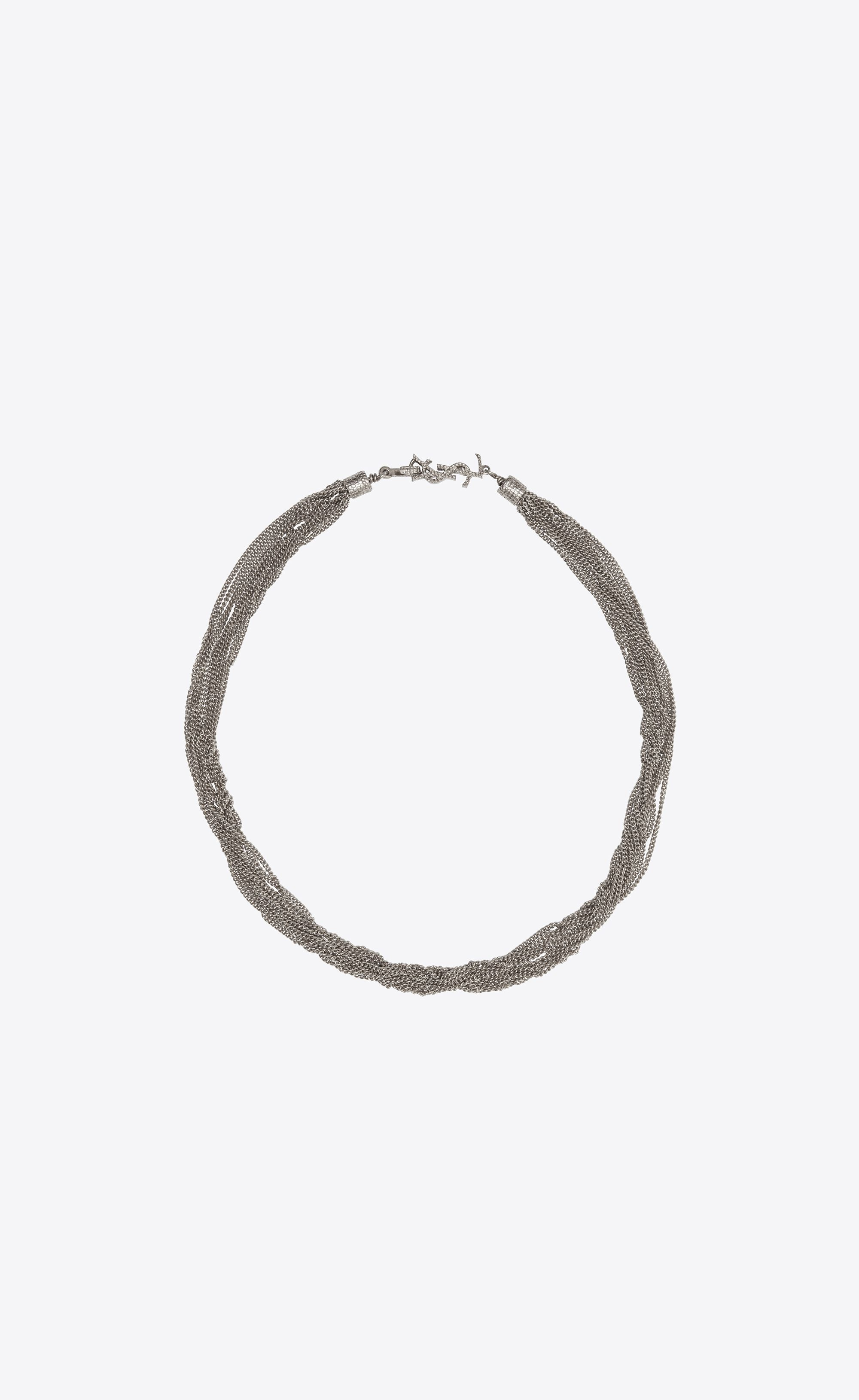 LouLou twisted necklace - Metallic Saint Laurent CrKHL2CPlK