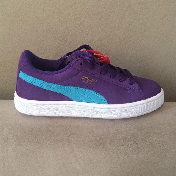 Size 1.5 • Puma Old Skool Suede Kicks