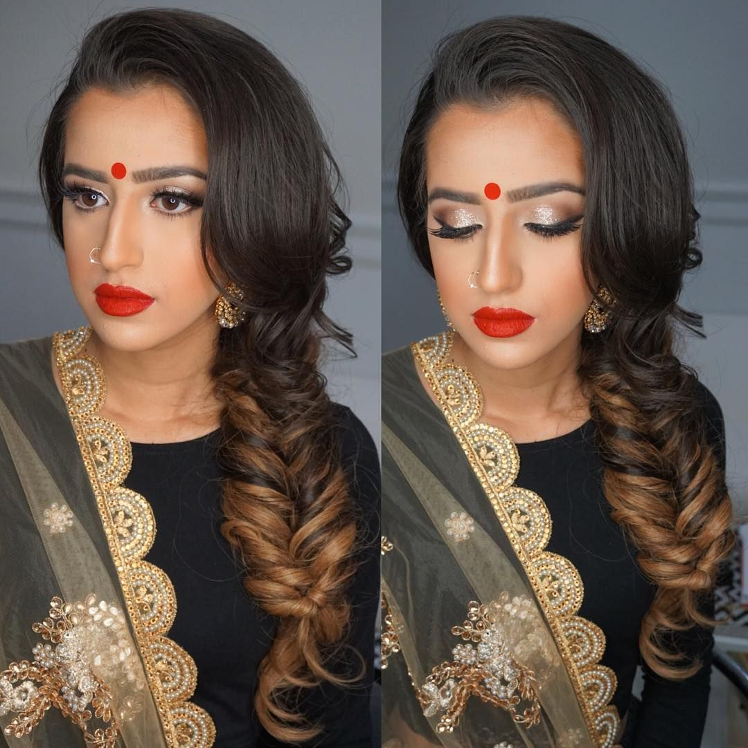 My @bombayHair.com #tamannaombreextensions braided to perfection! Love this look from my @dressyourface certified graduate and current #DressYourFaceLIVE.com member/student @blueroseartistry!