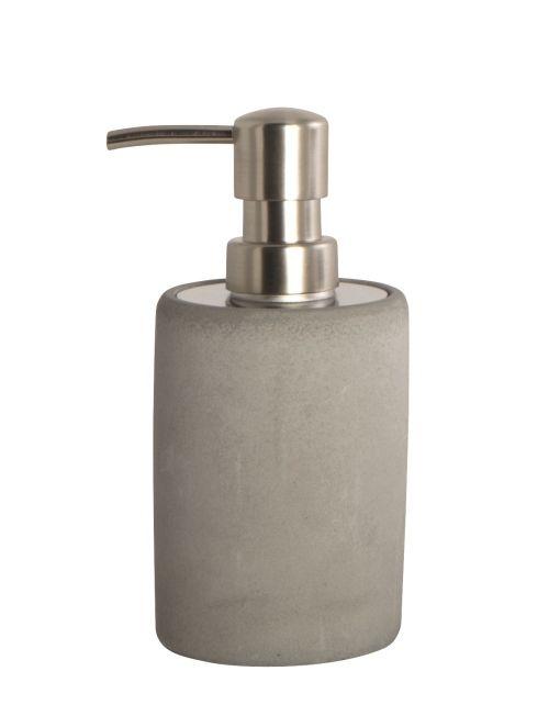 House Doctorinsaippuapumppupullo Materiaali: betoni Mitat: leveys 7,6 cm , korkeus 17,1 cm