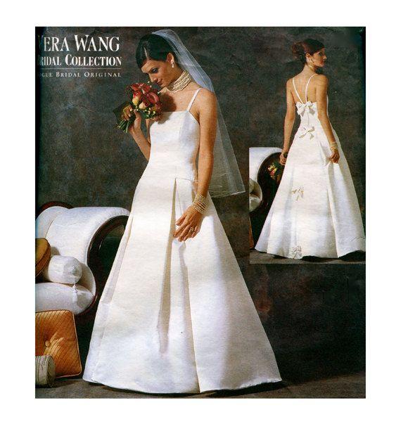 2000s Vogue Wedding Dress Patterns Vera Fit Flare Bridal Gown Designer 2527 Uncut