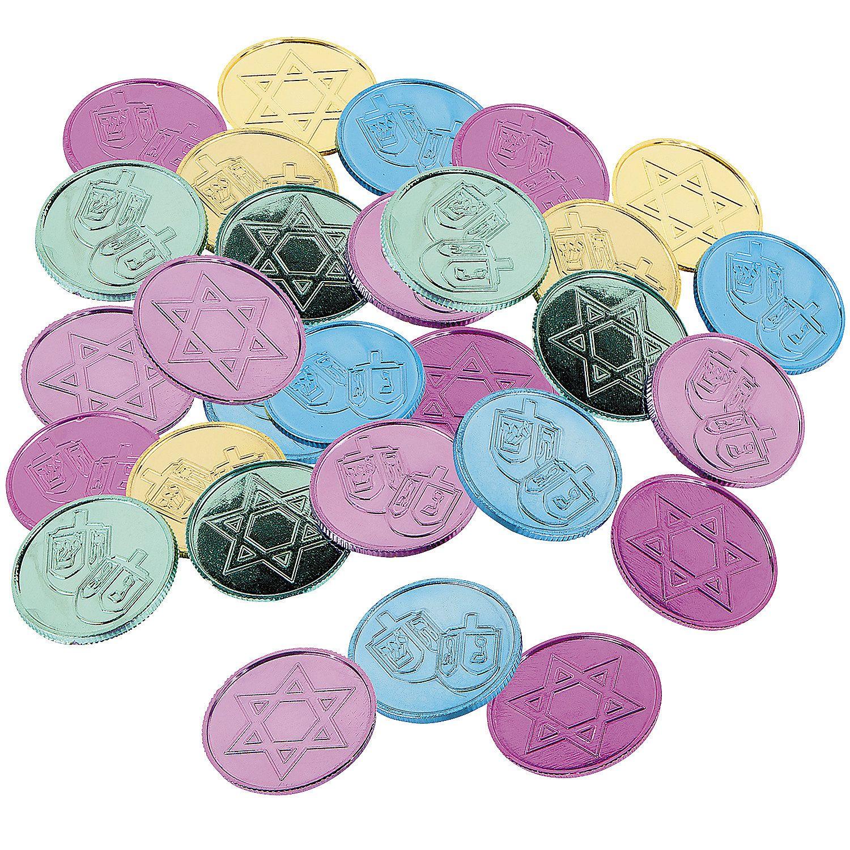 Hanukkah Coins Orientaltrading