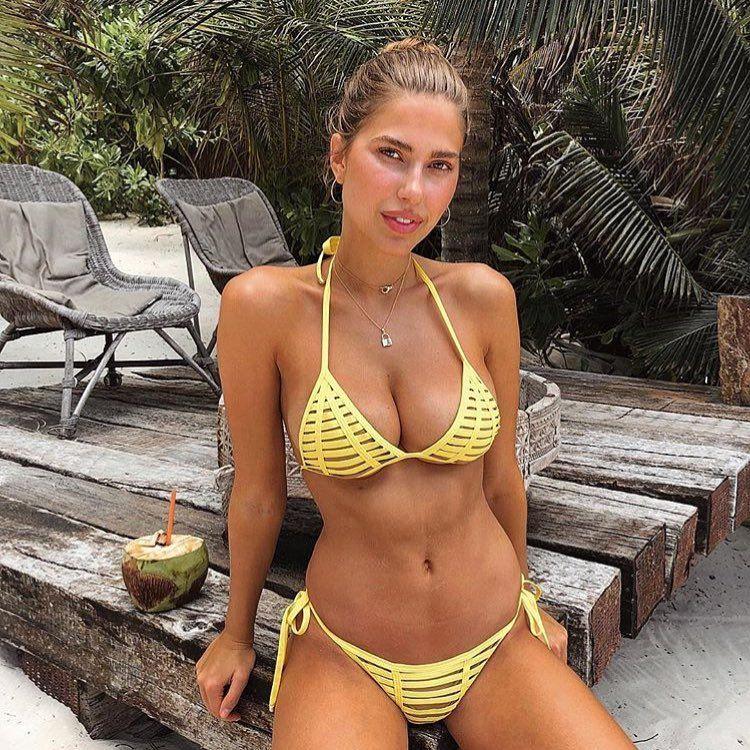 6763a7ae60 Hard Summer bikini #fashion #fashionable #fashionblogger #fashiongram # beachbunny #babe #hot #sexy #swim #sea #brightyellow #swimwear…