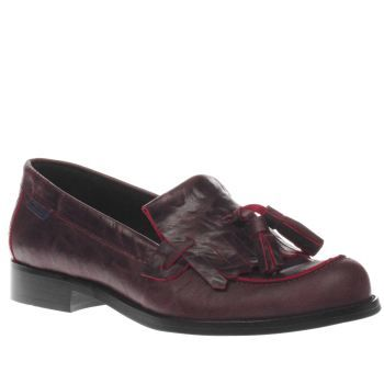 Womens Burgundy Red Or Dead Roxette Flats schuh