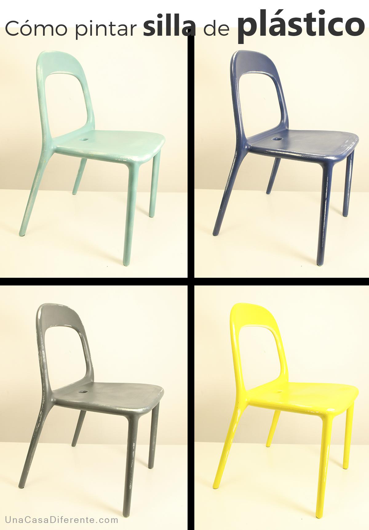 Como pintar silla de plastico ikea hacks diy pinterest - Como limpiar paredes blancas ...