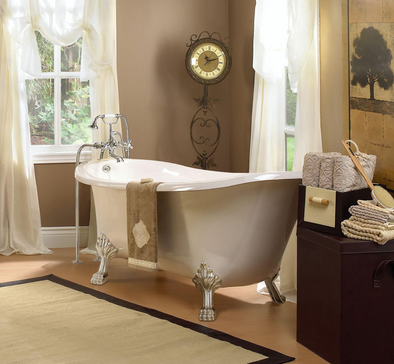 11-1501K3 1.7 m (5.5 ft.) old fashioned slipper bathtub Made of ...