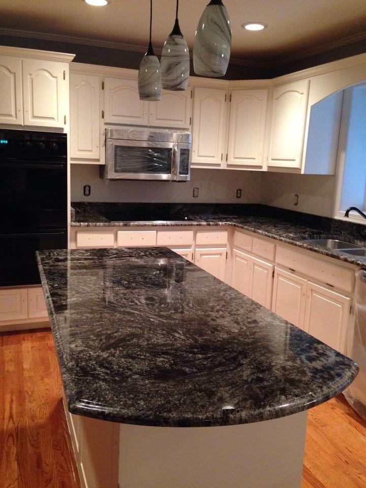 dark grey black white swirl granite countertops | Crafts & DIY~ Home ...