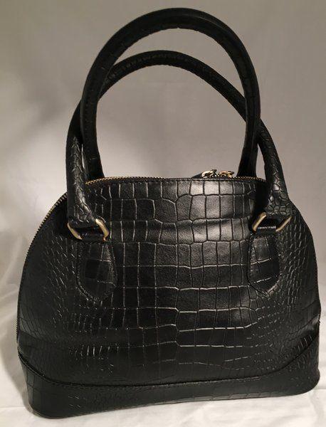 Black textured bag