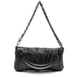 Sheepskin handbag with adjustable shoulder strap