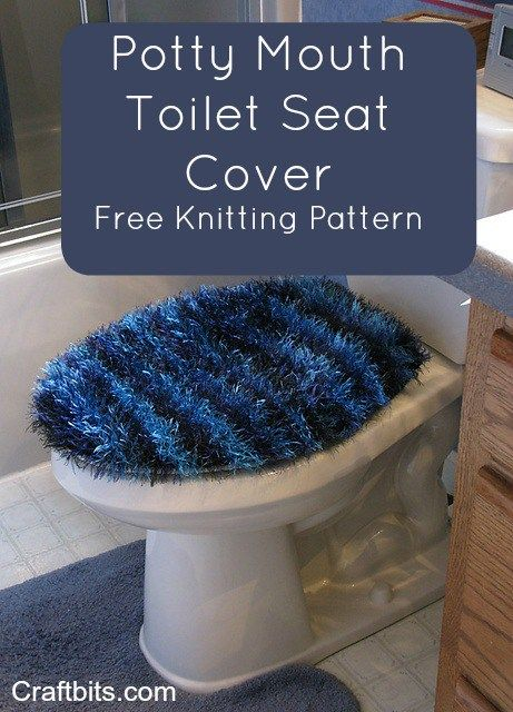 Stupendous Potty Mouth Toilet Seat Cover Toilet Extreme Knitting Onthecornerstone Fun Painted Chair Ideas Images Onthecornerstoneorg