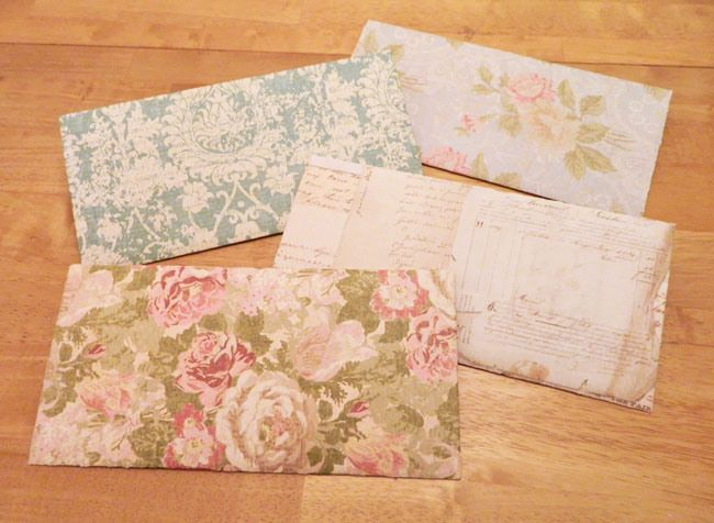How To Make A Letter Envelope Out Of X Scrapbook Paper  Diy