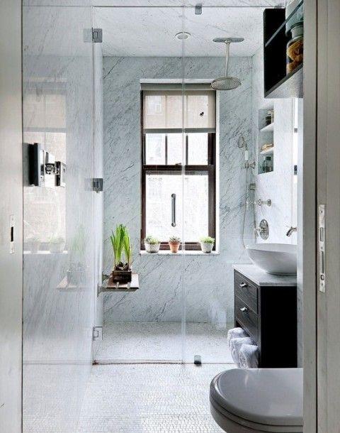 Baños pequeños y muy elegantes | baños | Pinterest