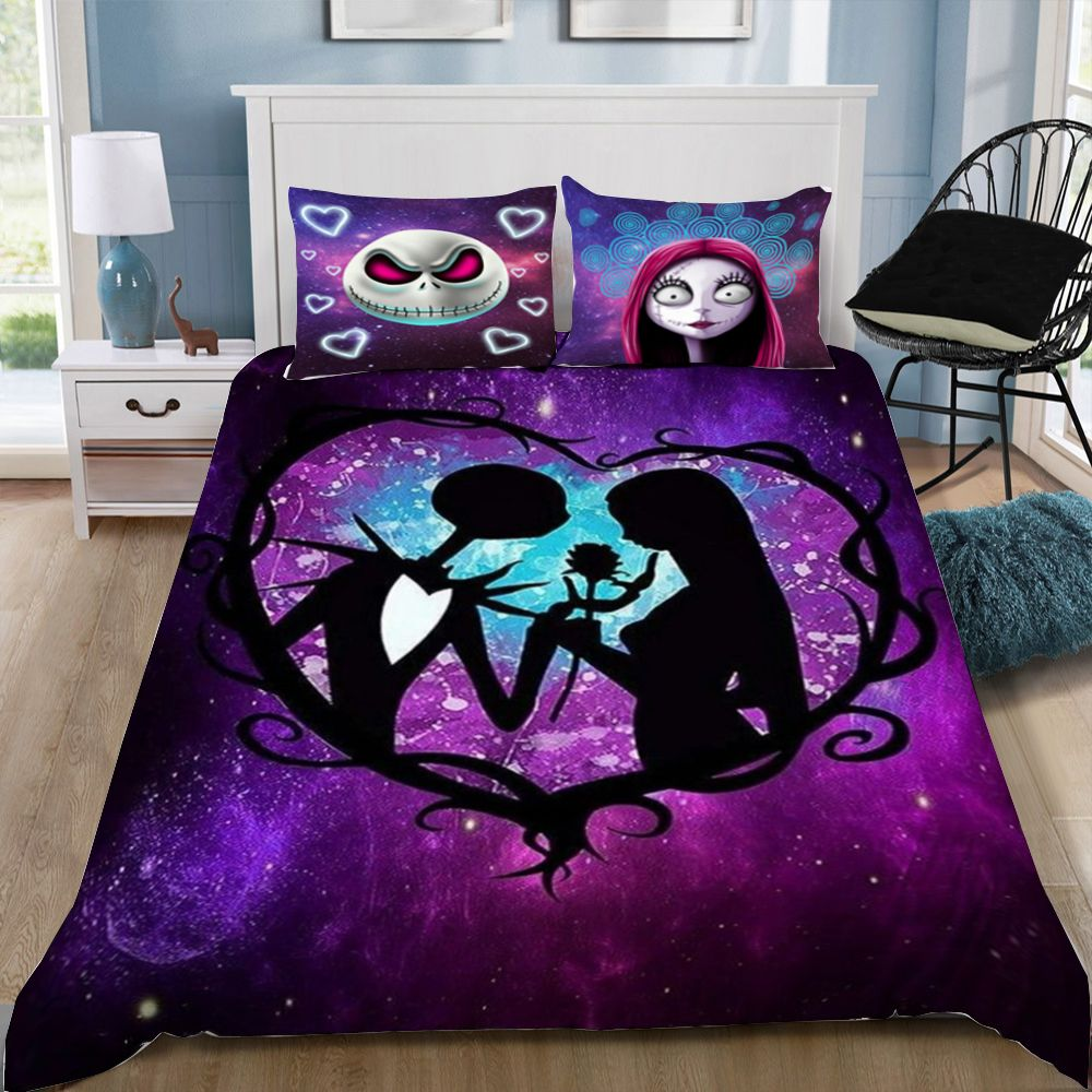 2 3pcs 3d Nightmare Before Christmas Galaxy Together Forever Bedding Nightmare Before Christmas Bedding Nightmare Before Christmas Wedding Nightmare Before Christmas