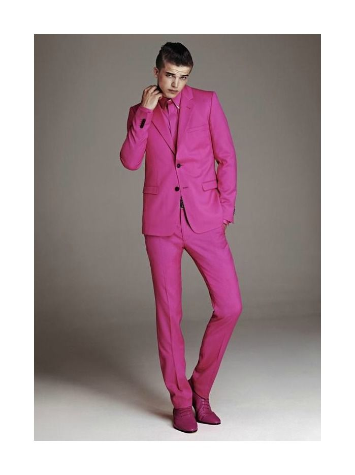 River Viiperi for H&M x Versace Preview | Versace pink ...