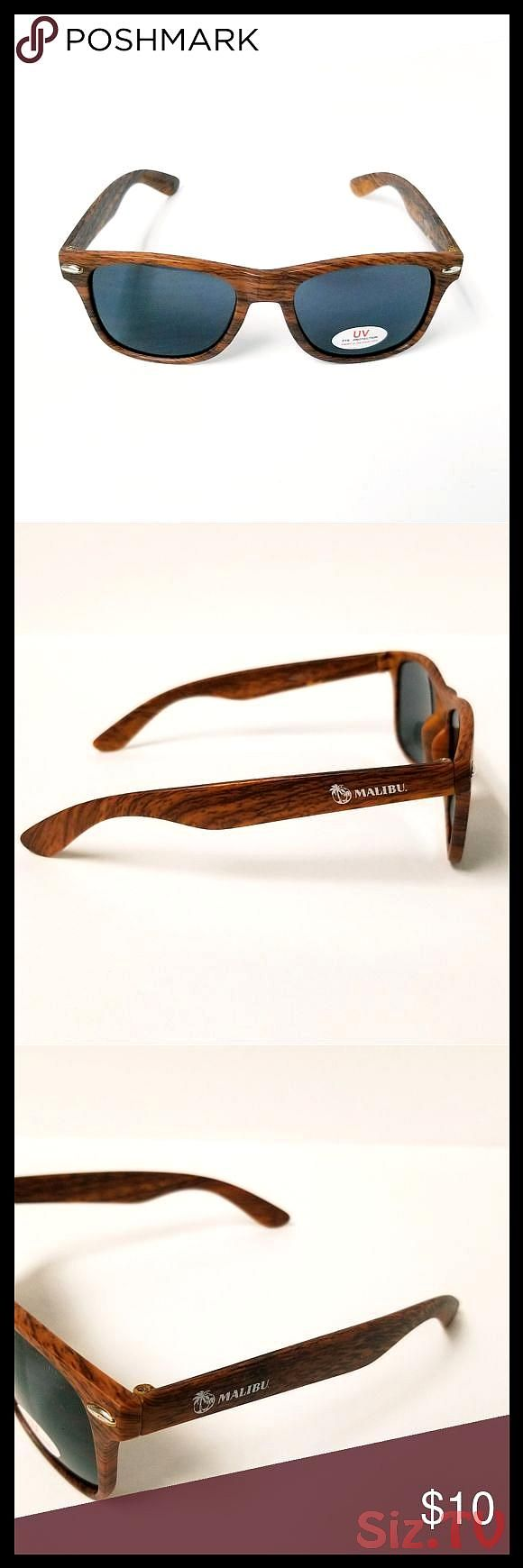 Malibu Sunglasses Brand new faux walnut colored wood grain UV glasses Great pair of unisex sunglasses No caseMultiple pairs available This listiMalibu Sunglasses Brand ne...
