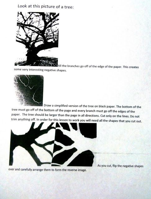 The Helpful Art Teacher: POSITIVE AND NEGATIVE SPACE ...