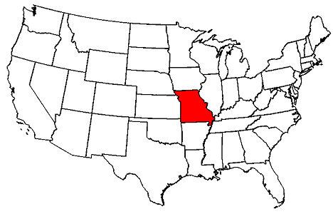 Missouri On Map Of Us Missouri Map - Missouri map of us
