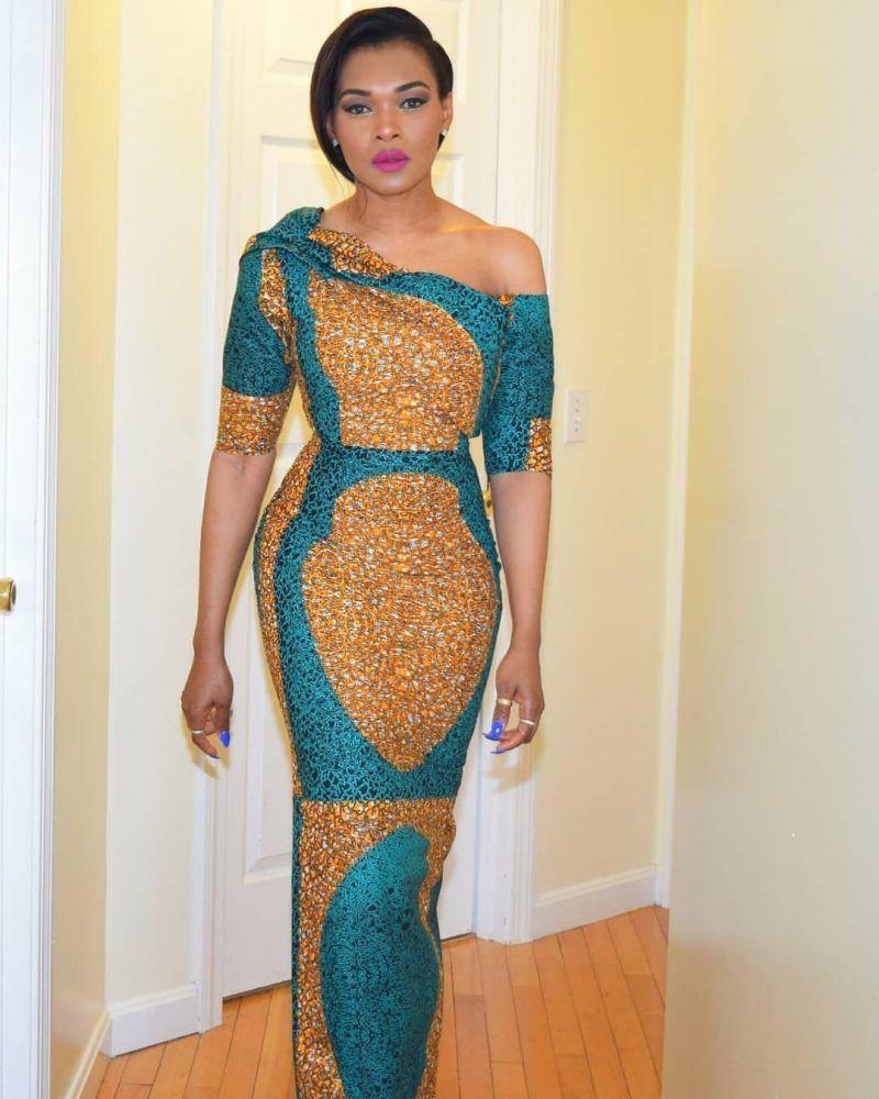 45 Beautiful Ankara Long Gown Styles Design 2019