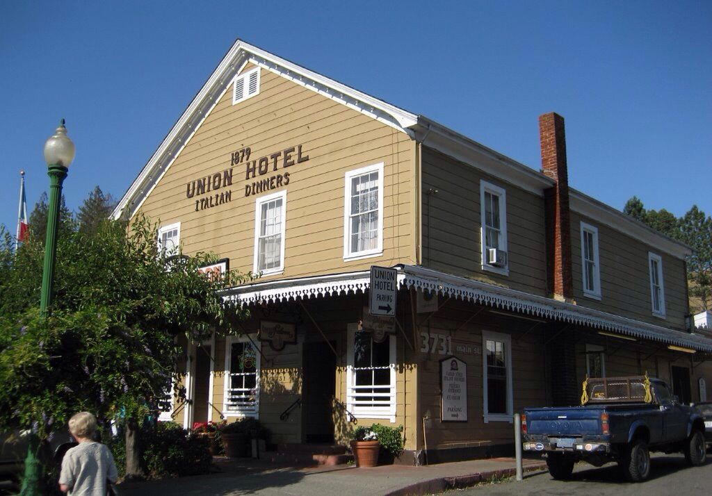 The Union Hotel In Occidental California Family Style Italian Restaurant