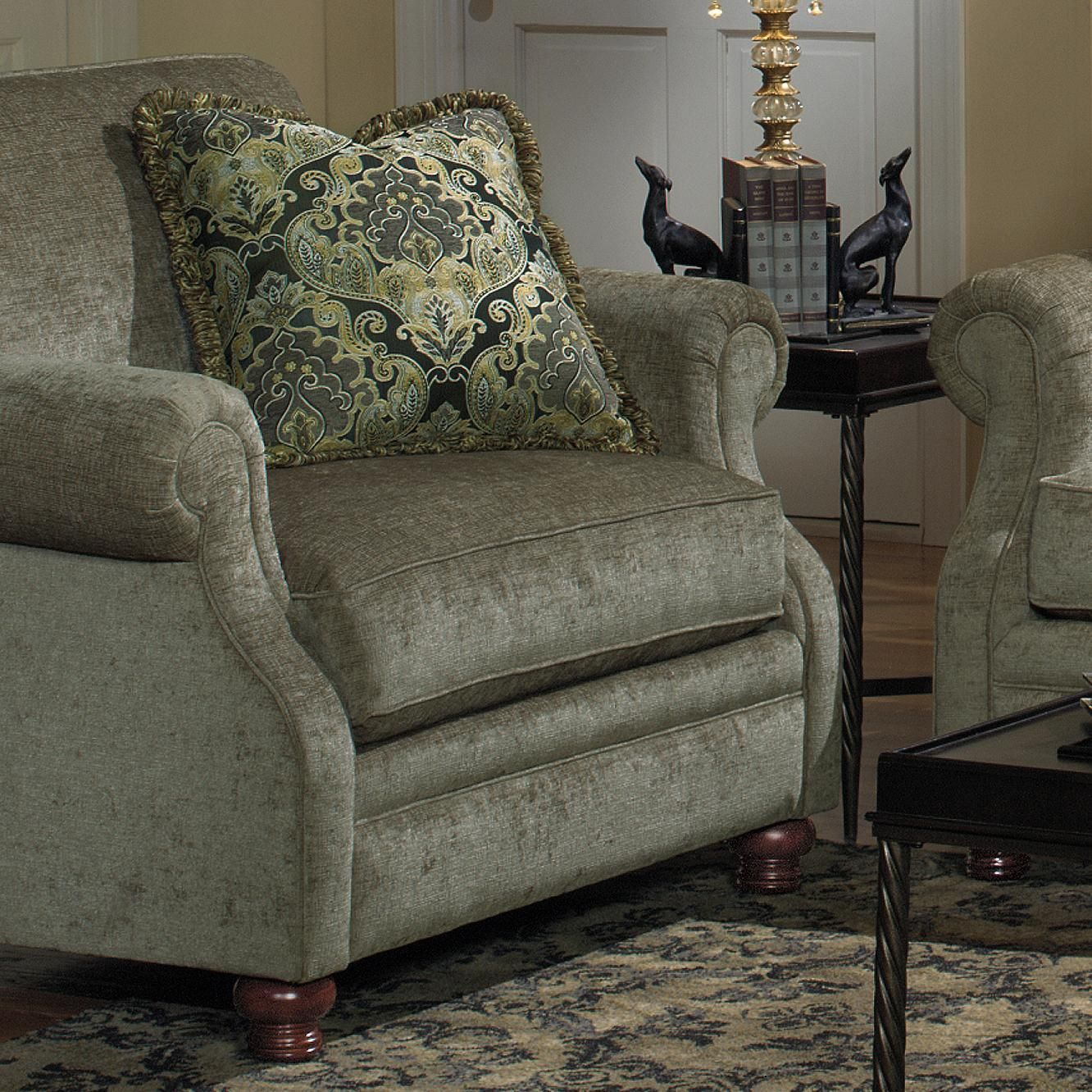Craftmaster 7266 Transitional Upholstered Chair with Exposed Wood Feet   At  Home Furniture   Upholstered Chair. Craftmaster 7266 Transitional Upholstered Chair with Exposed Wood