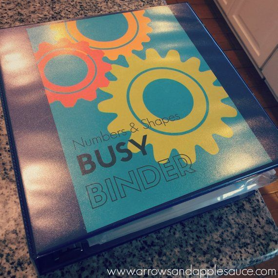 Numbers & Shapes Busy Binder, Printable Preschool