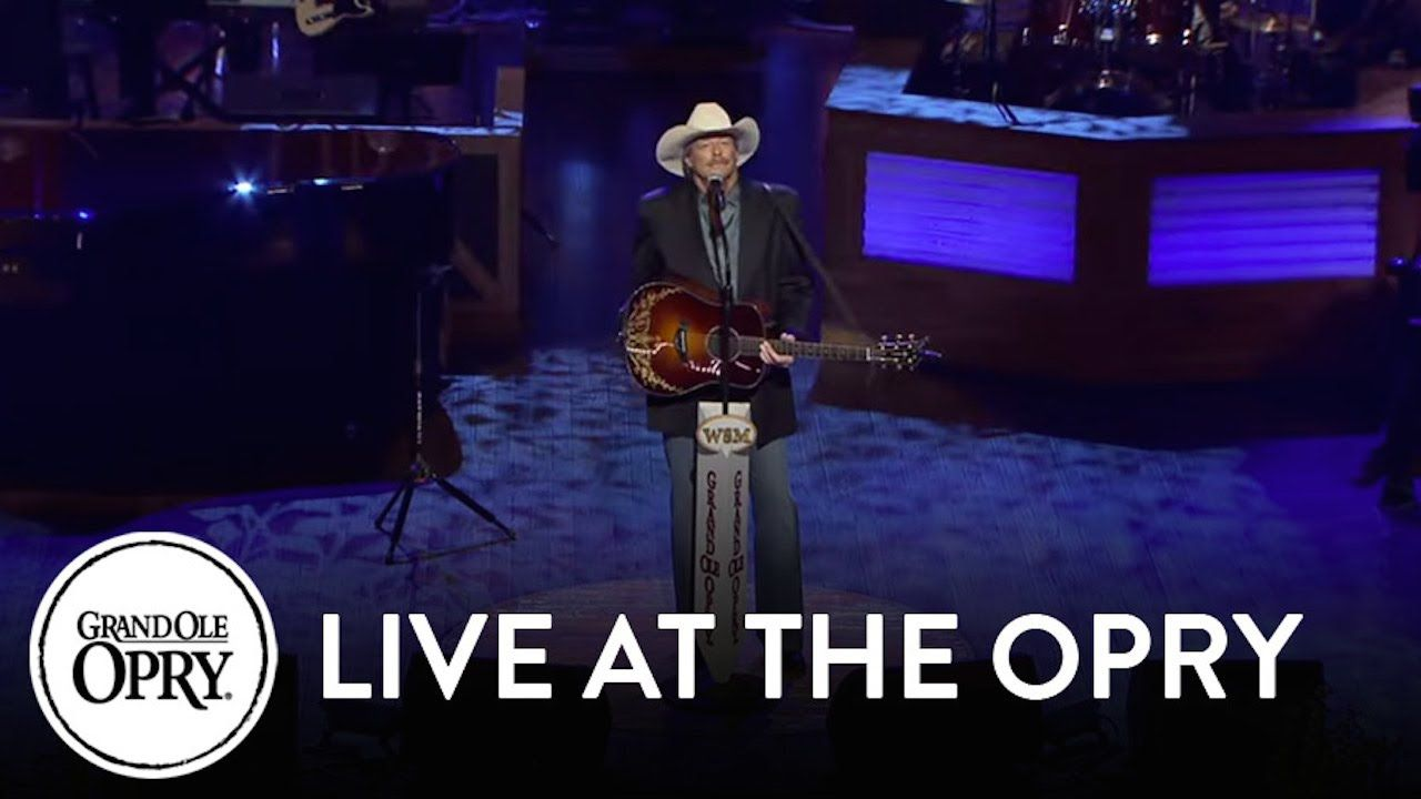 Alan Jackson He Stopped Loving Her Today At George Jones Funeral Alan Jackson Country Music Videos Opry
