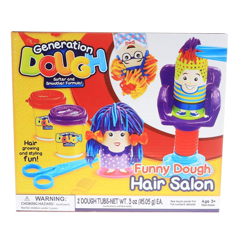 Generation Dough Hair Salon Kids Play Dough Hair Growing Styling Activity Set Kids Play Dough Kids Playing Kids Play Toys