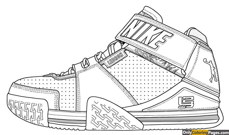 Lebron James Shoes Coloring Pages Lebron James Shoes Sneakers