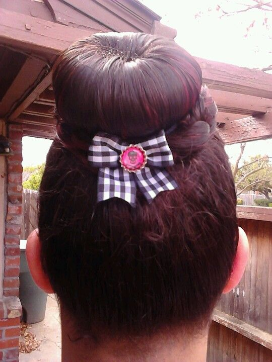 Back View Of Bellas Hot Bun Hair Hot Bun