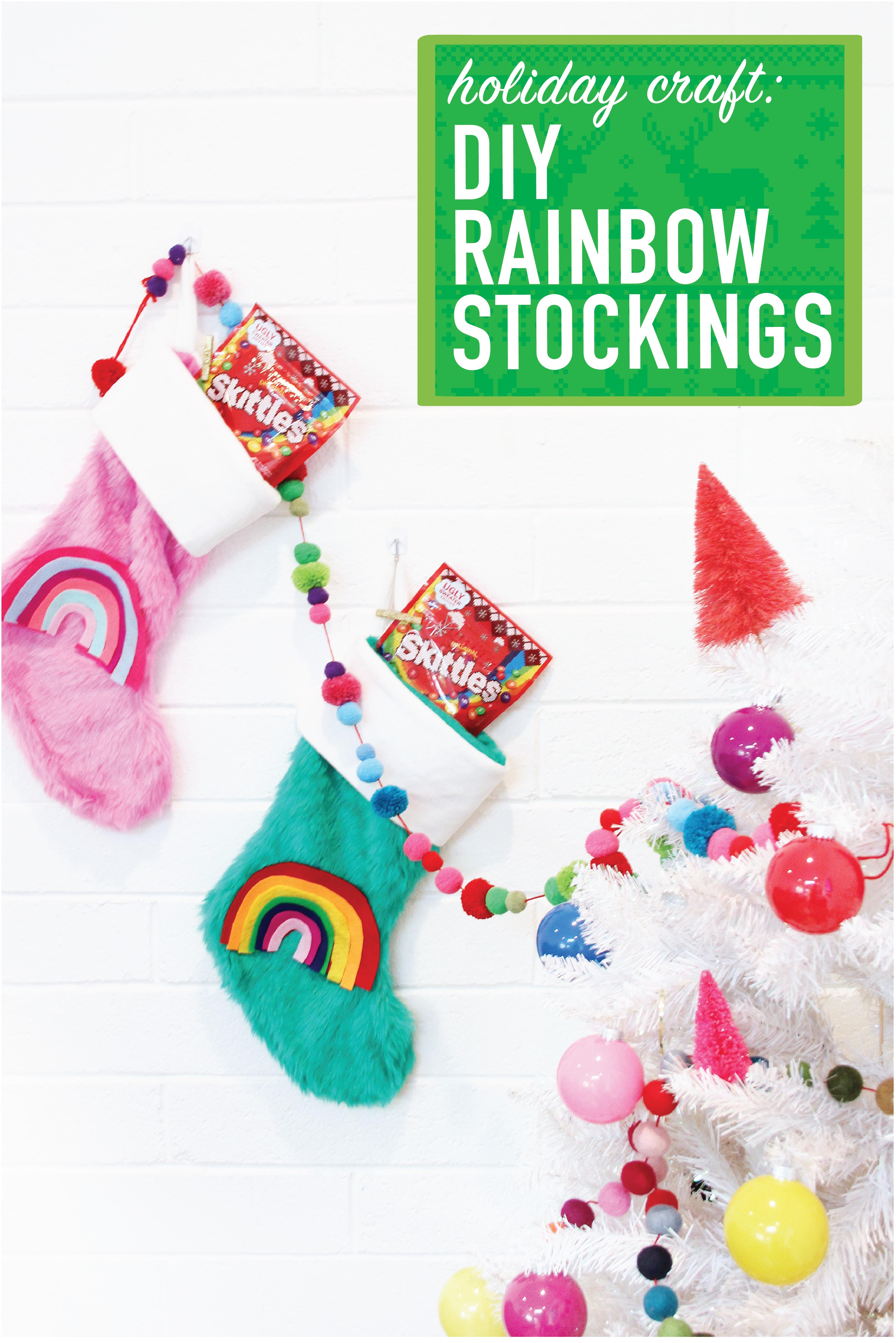DIY Rainbow Christmas Stockings | Pinterest | King soopers, Fred ...