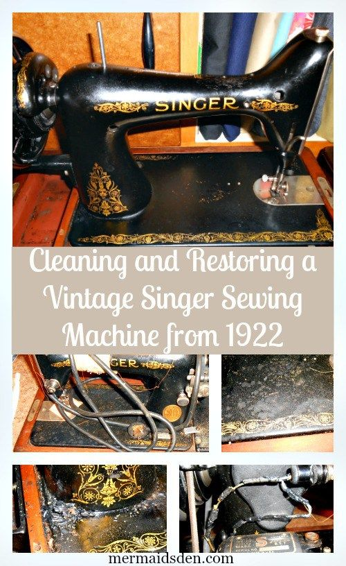 Jul 40 Restoring a Vintage Singer 40k Singers Vintage and Vintage Classy Singer Sewing Machine Cleaning