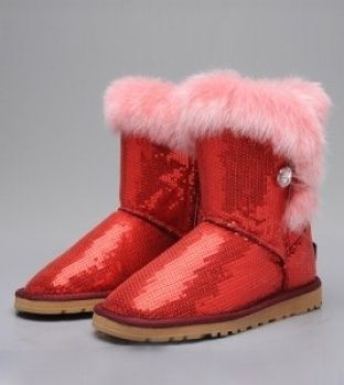 0d32f561bcb Ugg Rabbit Fur Sequin Boots 5803 red - These are for taylor!!! lol ...