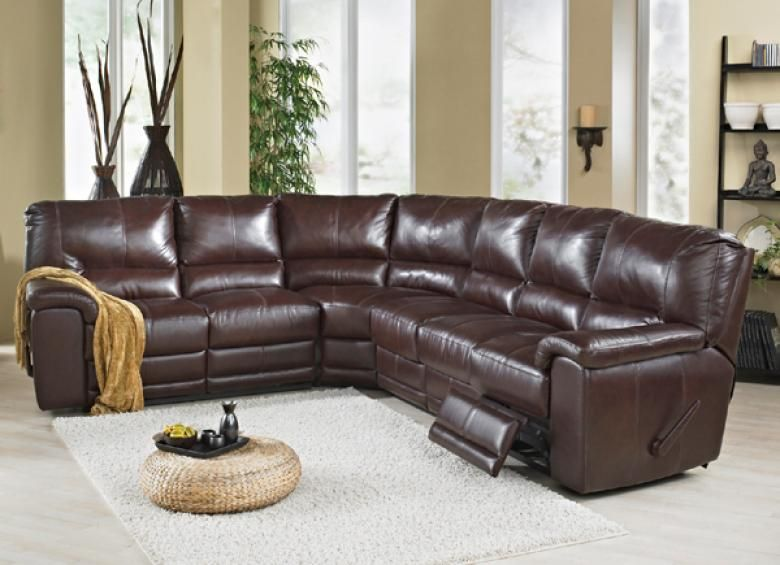 Rain Leather Reclining Sectional : Leather Furniture Expo