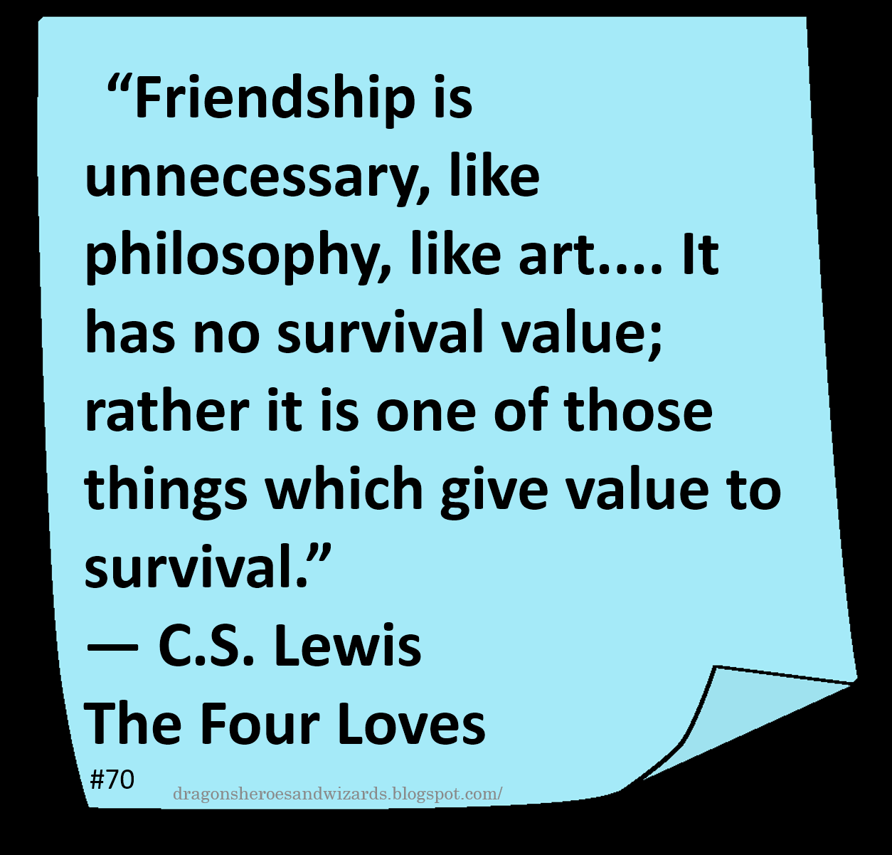 Cs Lewis Quote About Friendship ♥ C S Lewis ♥  Quote Author Friendship  Scifi  Fantasy