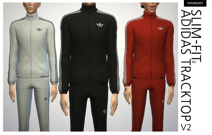 52b84f32 The Sims 4] costume - Adidas track top (AM): Naver blog | Sims 4 ...