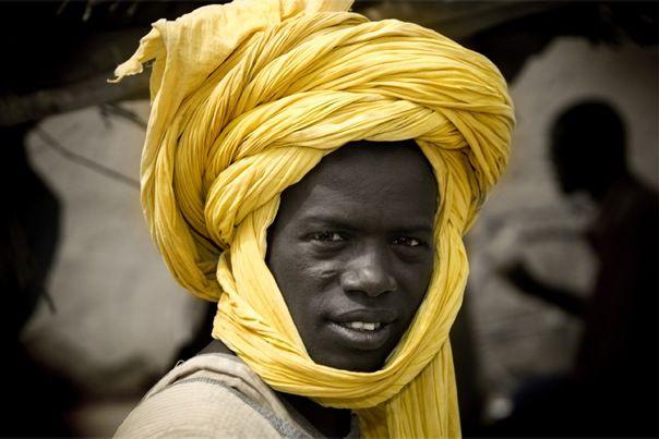 Mali... love the yellow turban... by Bob Nelson