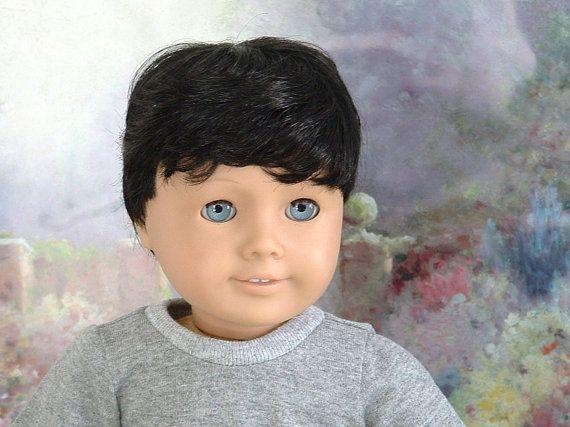 Black Hair Blue Eyes 18 Inch Boy Doll By Mygirlclothingco On Etsy
