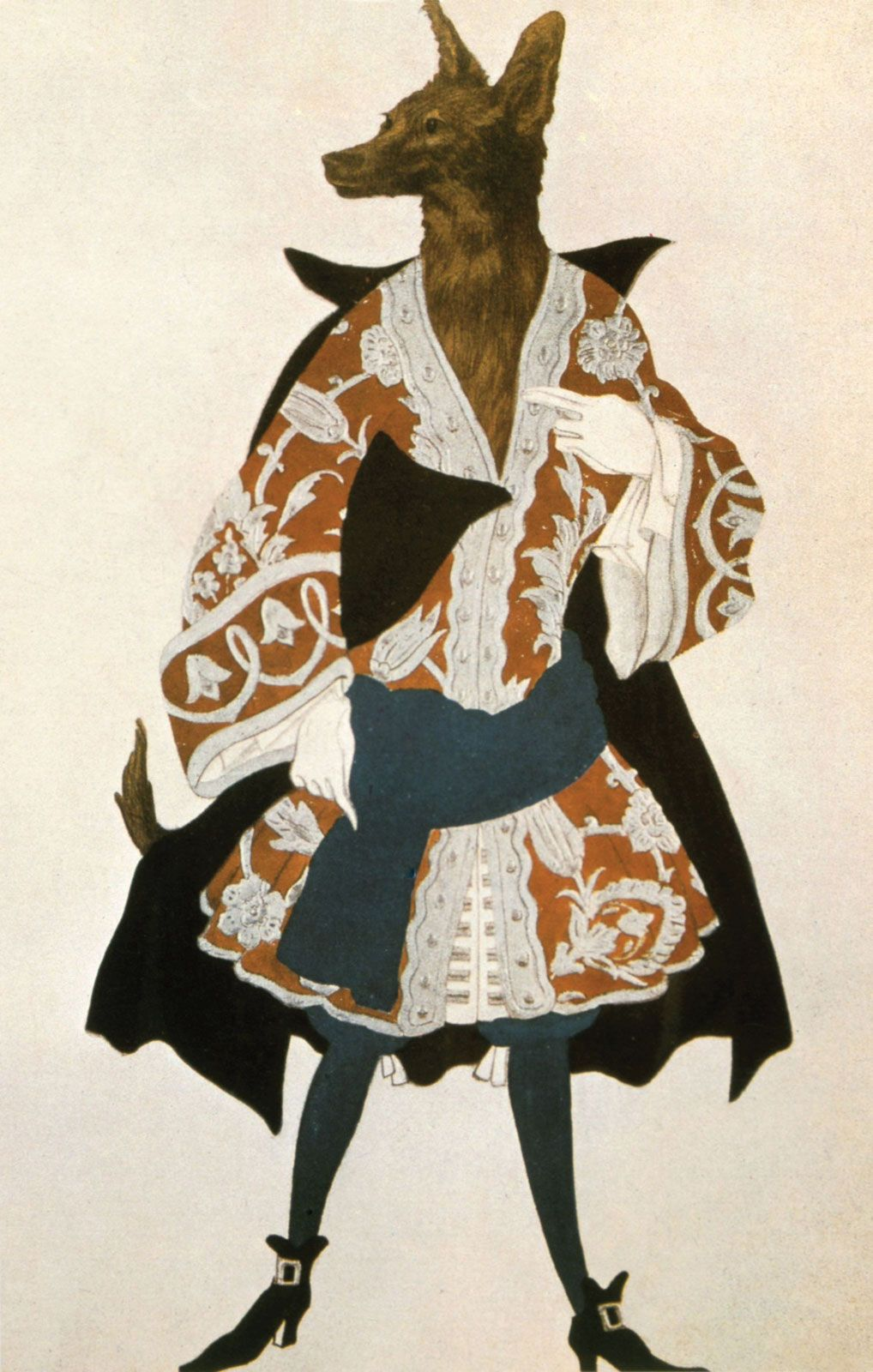 Leon Bakst, Costume design for the Wolf in La Belle au Bois Dormant, 1921