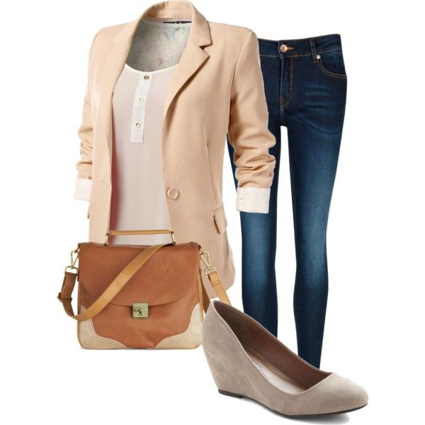 """Peach"" by simpliglamour on Polyvore"