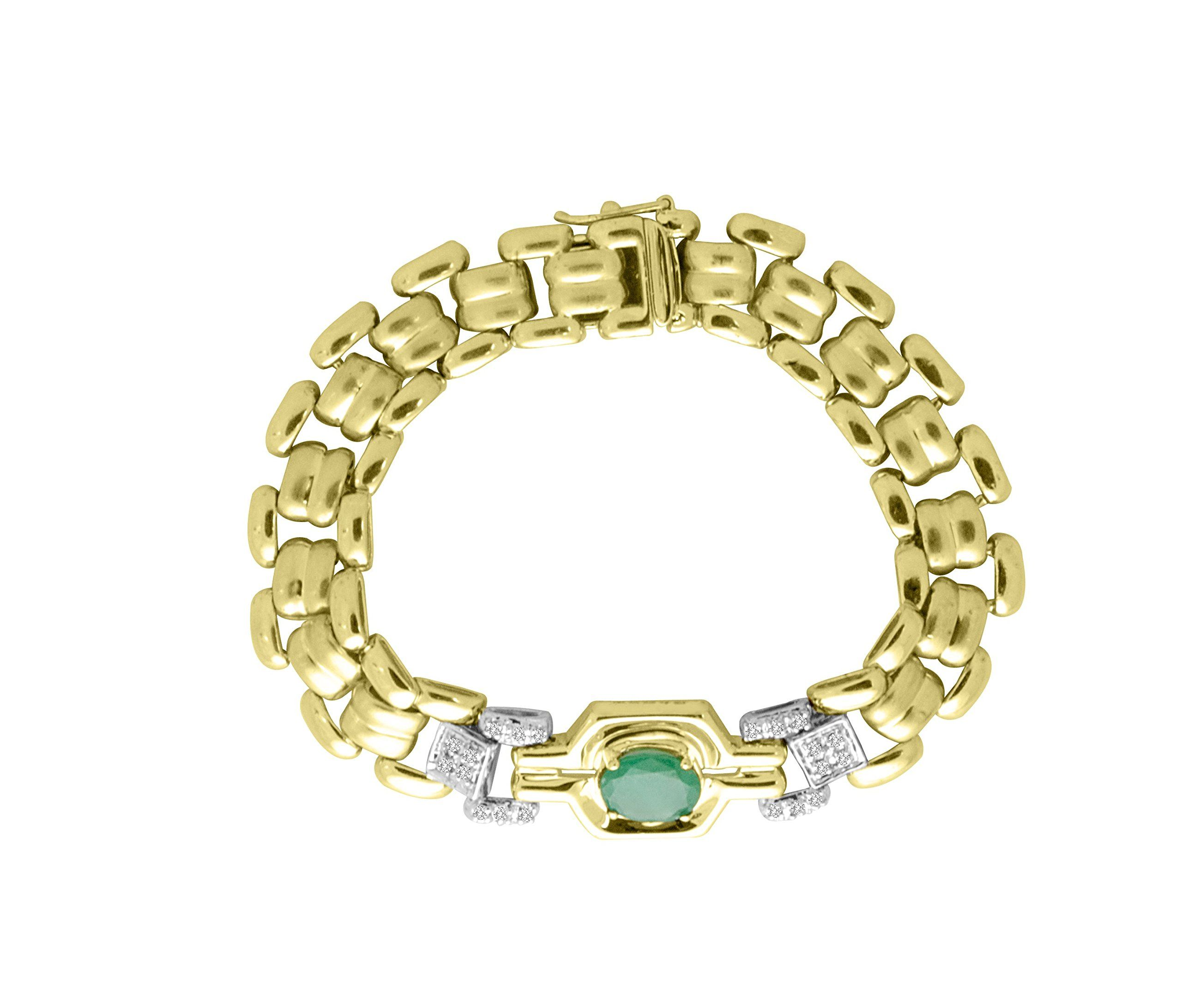 Emerald u diamond tennis bracelet k yellow gold direct