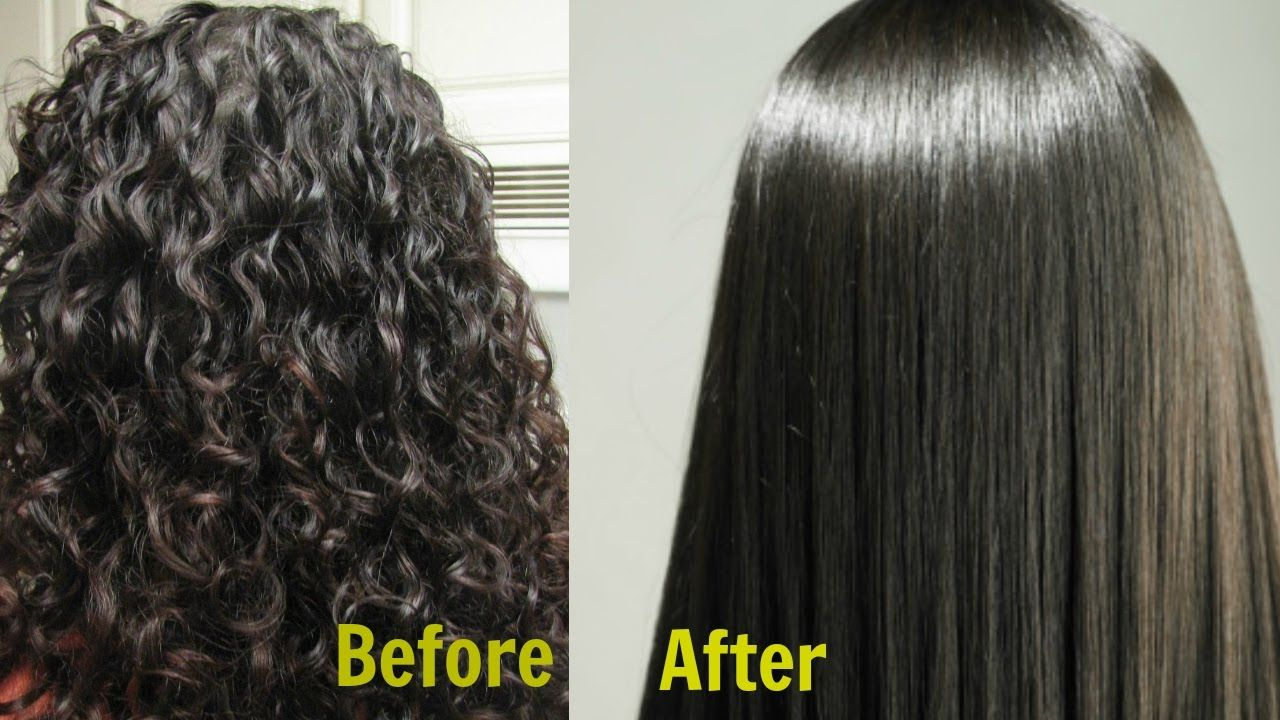Permanent Hair Straightening At Home In 3 Ways Silk Shine Naturally Curly To Straight Hair Straight Hair Tips Straightening Natural Hair