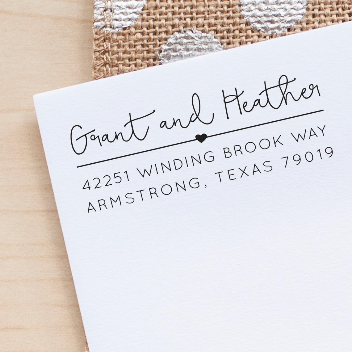 Address Stamp Heart Return