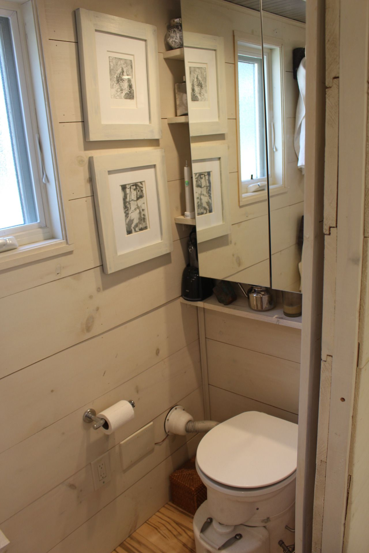 tiny hall house 2015 kitchen and bath area the inside was water downed paint